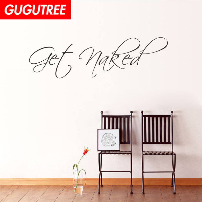 Decorate 37x60cm get naked art wall sticker decoration Decals mural painting Removable Decor Wallpaper LF 167 in Wall Stickers from Home Garden