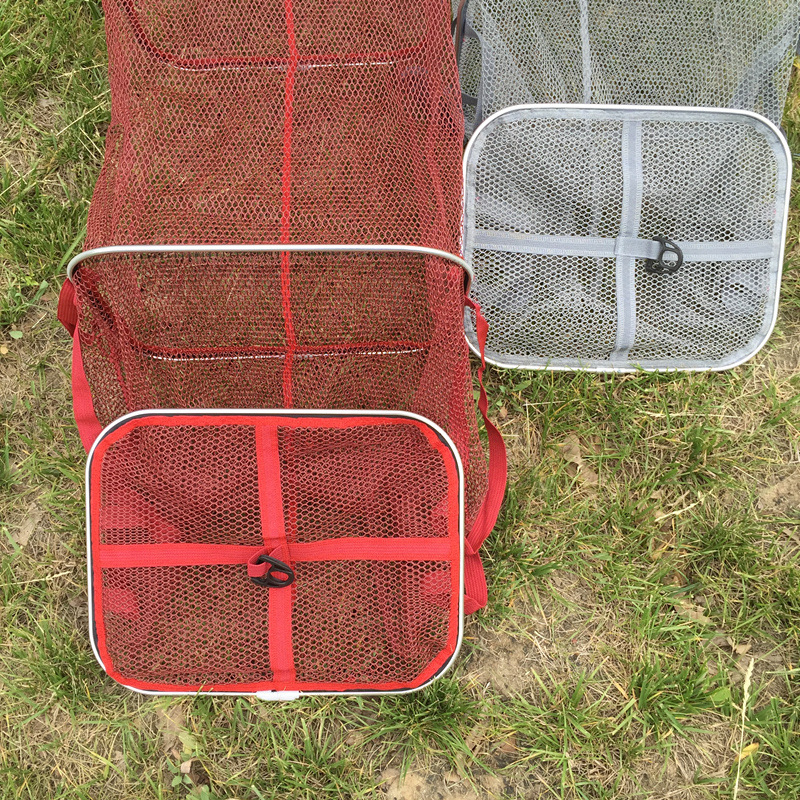 High quality Square ring Fishing tackle real Aluminum ring edge quick drying shrimp net fish 4M