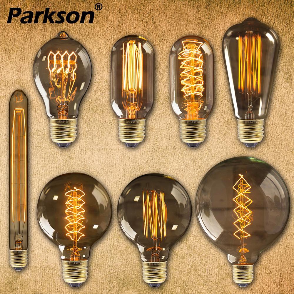 Bombilla Edison E27 220V 40W ST64 T45 A19 G80 G95 ampolla Vintage bombilla Edison lámpara incandescente bombilla Retro para la decoración del hogar Novedad bombilla LED Bombillas E27 220V 4,5 W 8W 220V ampollas de calidad superior lámpara LED E27