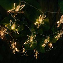 10M 50 led Lucky Star Shaped LED String Light для вечеринки Свадебное украшение венчания гирлянды Украшение гостиной Декоративные светильники
