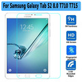 "High Quality Utral Thin Tempered Glass for Samsung Galaxy Tab S2 8.0 T710 T715 Sreen Protector for Samsung Tab S2 8.0"" Protector"