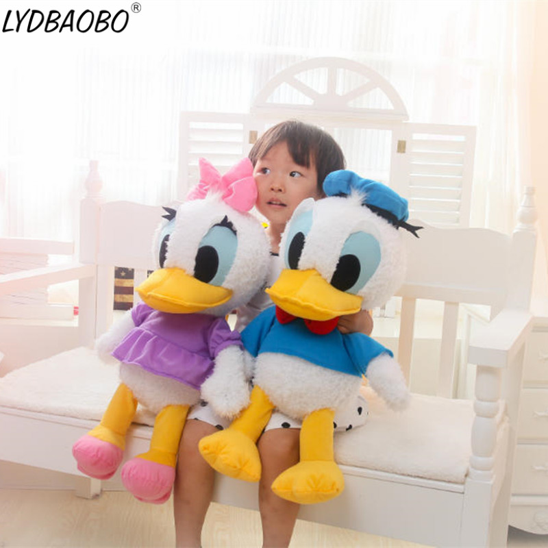 LYDBAOBO 1PC 60CM Big Size Classic Cartoon Cute Donald Daisy Duck Plush Stuffed Dolls Kids Toys The Best Gifts For Children Toys 150cm the big hero 6 plush toys big size baymax plush dolls movies