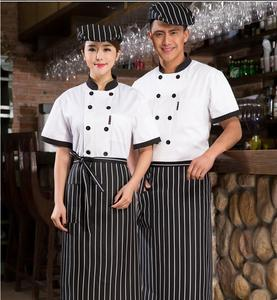 Image 2 - New Chef Jacket Hotel Restaurant Work Wear Double breasted Mens Kitchen Chef Uniform Cook Clothes Food Services Frock Coats 89
