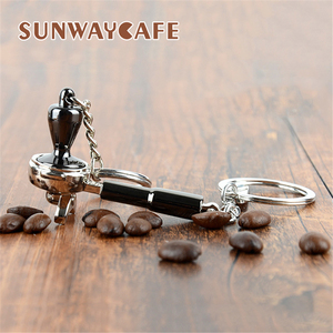 Image 5 - Coffeeware אספרסו אביזרי מתנה קפה מכונת ידית מוקה קנקן Keyring נייד Creative ריסטה קפה לחבל Keychain
