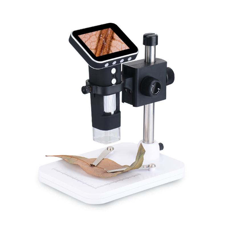 500X USB HD 3.5Inch Screen Display Digital Electronic Microscope Magnifier LED Light magnifying Glass With Universal metal base tbk 45l best multi function microscope move electronic digital display 7 45x zoom operating cpu microscope maintenance