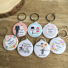50pcs Custom Personalized name date Bottle Opener keychain Wedding Gifts For Guests Souvenirs Favors And