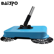BAISPO Stainless Steel Sweeping Machine Hand Push Magic Push Broom Dustpan Handle Household Lazy Sweeper Broom floor Sweeper mop