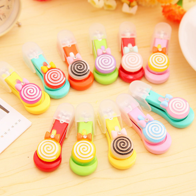 12PCS Cute Lollipop Nail Clippers Girl Birthday Party Favor Baby Shower  Baptism Gifts Souvenirs