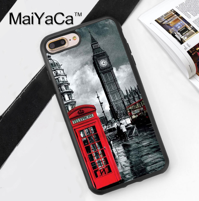 88e2c464bd MaiYaCa LONDON BUS Big Ben Coque Accessories For Apple iPhone 6 6S Plus 7 8  Plus 5 5S SE X Case Soft Rubber Printed Phone Cover