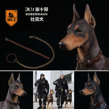 1/6 Acessórios De Cena Solider Figura Collectible Mr. Z Animal Real 10th DB001-DB003 Alemã Doberman Modelo Estátua para 12 ''Figura(China)