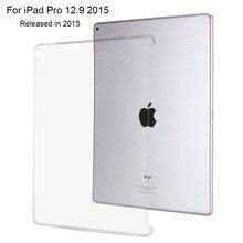 Caso Para iPad Pro 12.9 2015, Redlai Transparente Puede Ver el Logotipo Ultra thin Tpu Caso de La Contraportada Para el ipad Pro 12.9 pulgadas