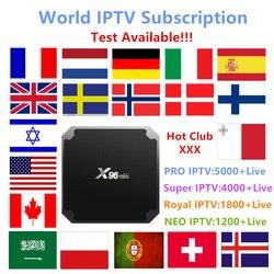 X96mini World IPTV Subscription Android 7.1 tv box Nordic Dutch France Spain UK Swedish USA iptv +Adult xxx Smart set top TV box