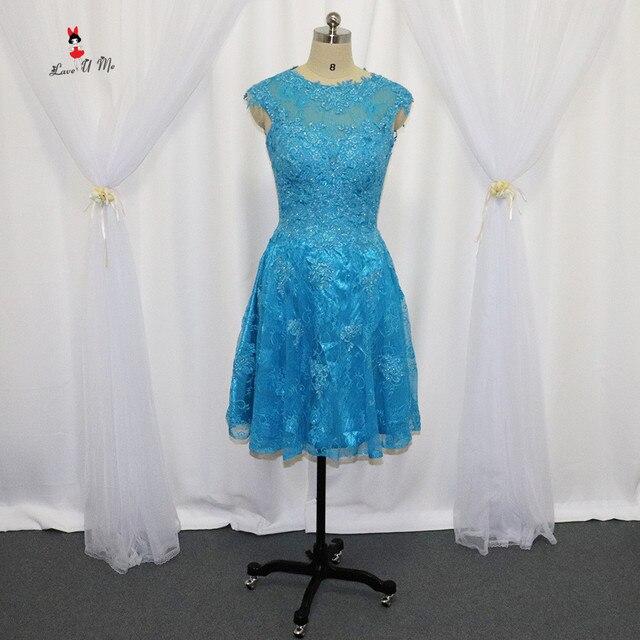 Vintage Günstige Blau Prom Kleider 2017 Kurze Spitze Cocktail Party ...