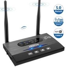 262ft/80mLong Gamma NFC Bluetooth 5.0 Trasmettitore Ricevitore Adattatore Audio Musica APTX HD Bassa Latenza Spdif RCA 3.5mm per la TV PC