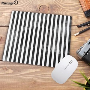 Image 5 - Mairuige preto listras de aquarela promoção jogos tamanho pequeno 22x18cm velocidade mouse pad computador mousepad melhores esteiras para gamer esteira