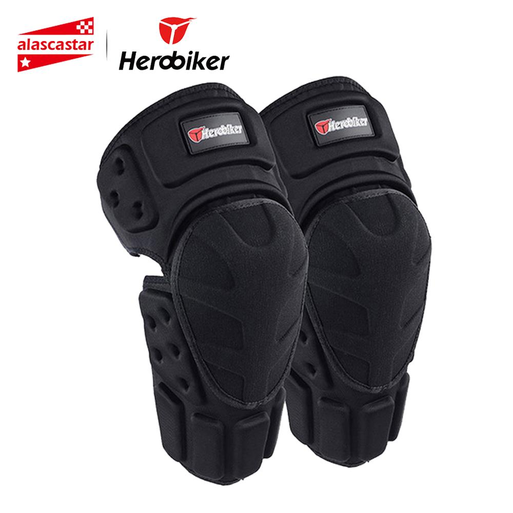 HEROBIKER Motorcycle Riding Knee Protector Bicycle Cycling Bike Racing Knee Pads Tactical Protective Gear Extreme Sports