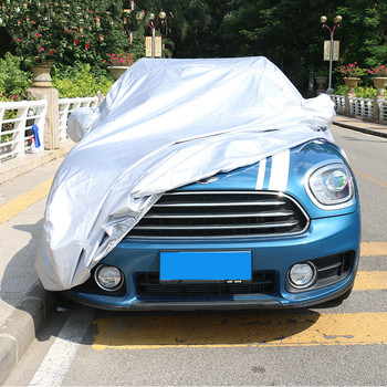 Car Body Cover Auto Sun Rain Dustproof Waterproof Cover Shield for Mini Clubman F54 / 2017 Countryman F60 Silver