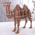 """J & E High-end 51.5 """"camelo de madeira móveis de madeira estante estante mobília puzzle de auto-construção"""