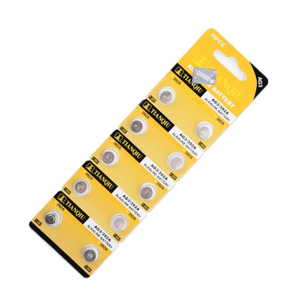 10x LR41 AG3 392A SR41SW 384 LR736 V3GA 192 1.55V Button Coin Cell Battery Batteria For Watch Clocks Laser Pointer Torch