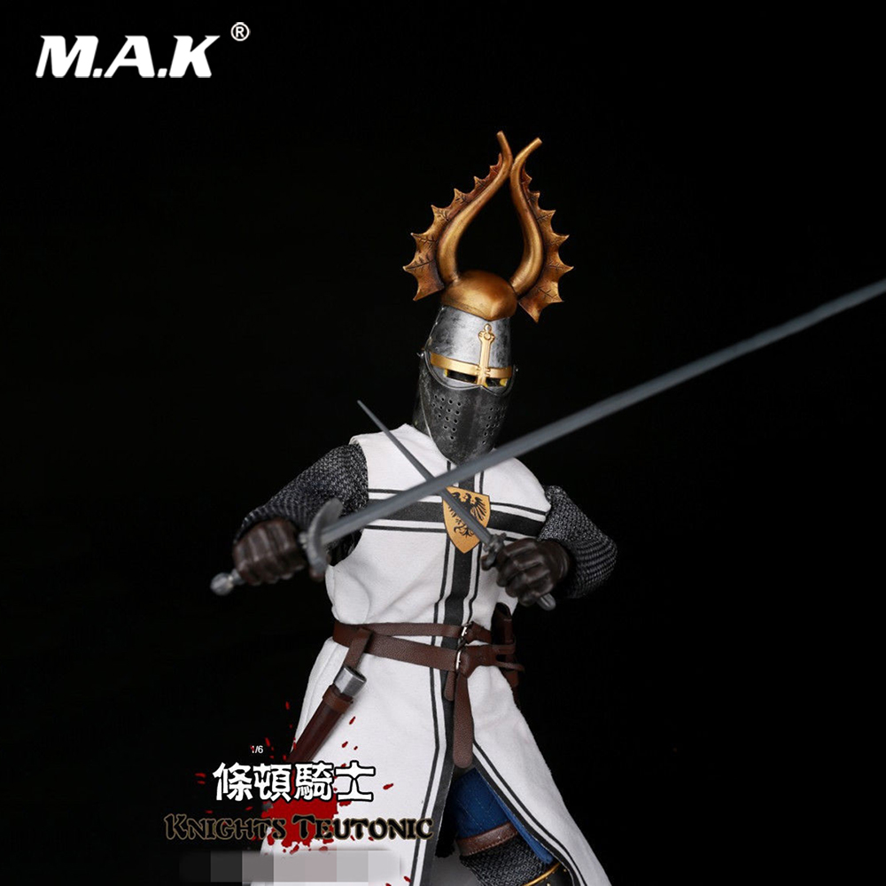 ZH011 Collections 1:6 Medieval Knight Teutonic Soldier Doll Action Figure Model Toys for Gift