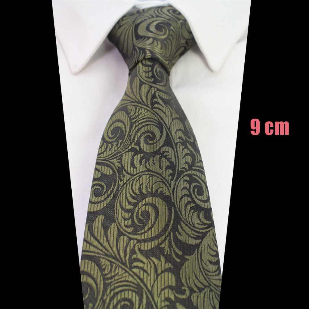 RBOCOTT удлиненный 9 см галстук удлиненный размер 160 см мужской коричневый Пейсли синий цветочный галстук Красный Клетчатый шелковый галстук на шею свадебный бизнес