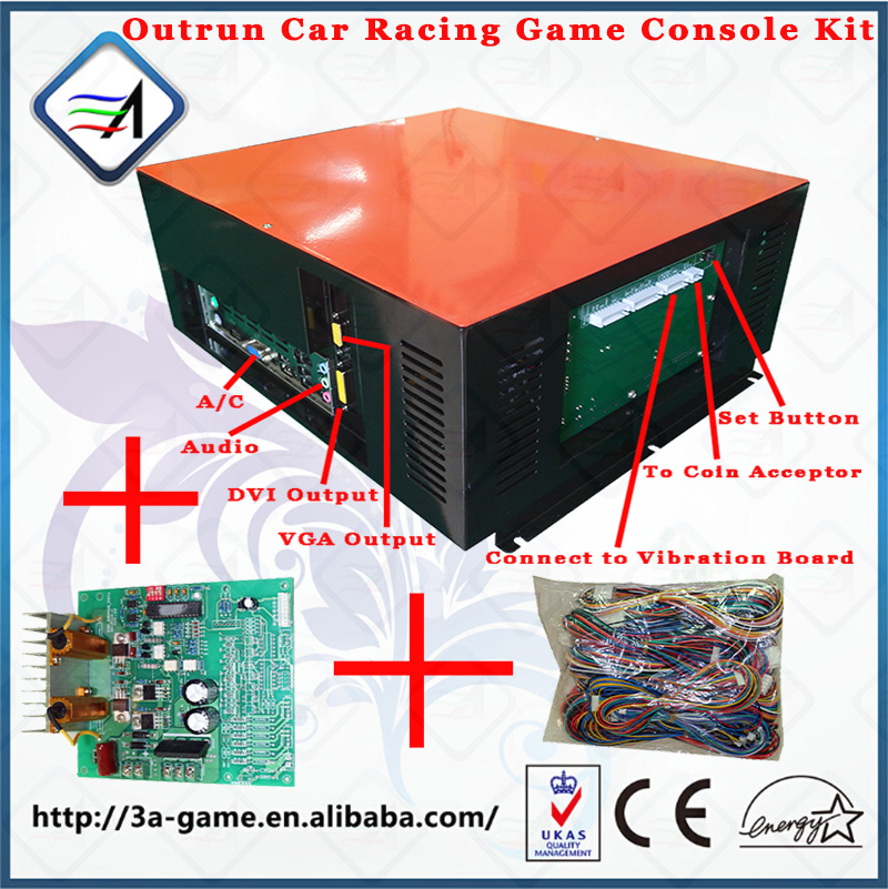 Arcade Kit Outrun Outrun Car Racing Driving Game Motherboard Car Racing Simulator Outrun Game Console Kits for Game Machine jamma game console kit vertical screen shooting motherboard raiden v simulator shooting arcade game console kit for game machine