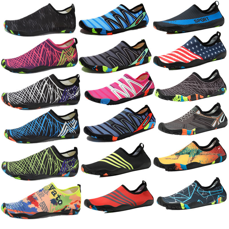Men Swimming Shoes Beach Water Shoes Outdoor Swimming Shoes Footwear Sports Sandals Lightweight Slip-on Aqua Women Shoes