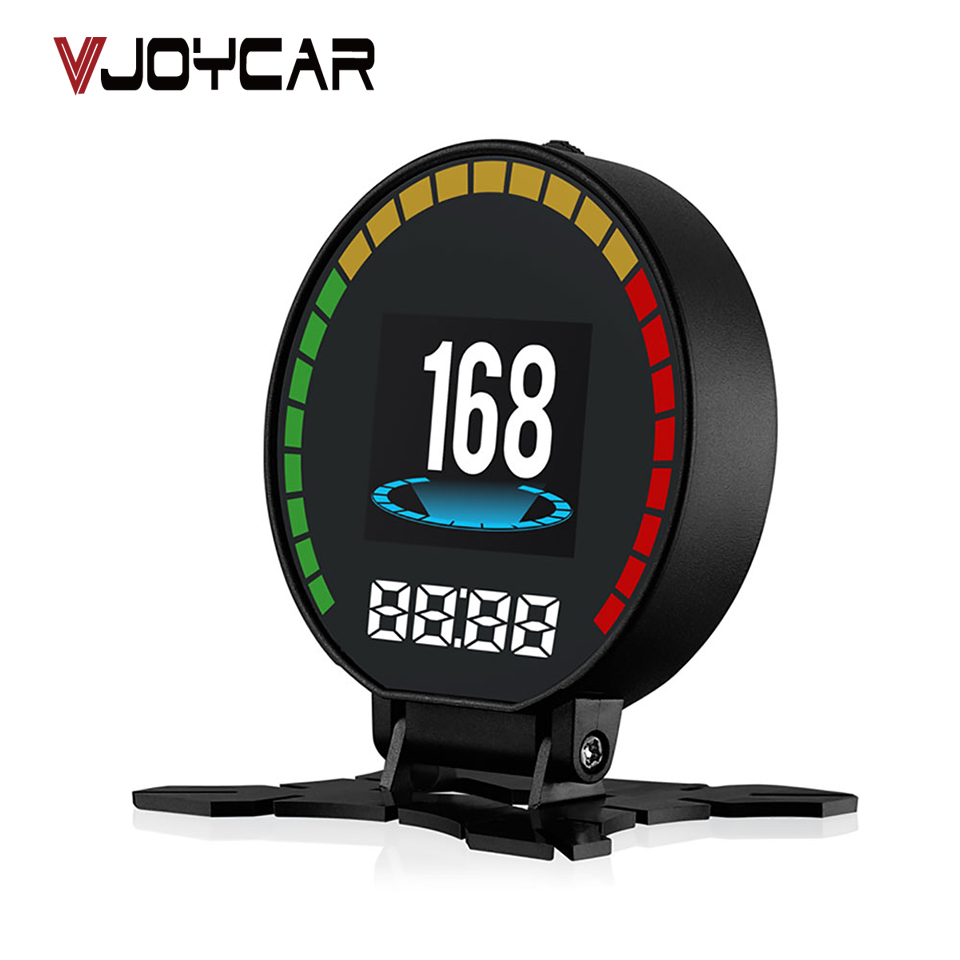 VJOYCAR P15 OBD2 Heads Up Display Hud Display Car OBD Speed Projector Digital Car Speedometer Mileage Fuel Consumption RPM Temp 5 8 inch car hud obd2 digital speedometer car windscreen projector head up display fuel speed rpm voltage alarm two display mode