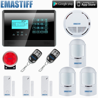 HOMSECURITY GSM Mobile SIM Home Intruder Alarm System Gap PIR Glass Vibration Sensor Keyfobs 12KG Pet