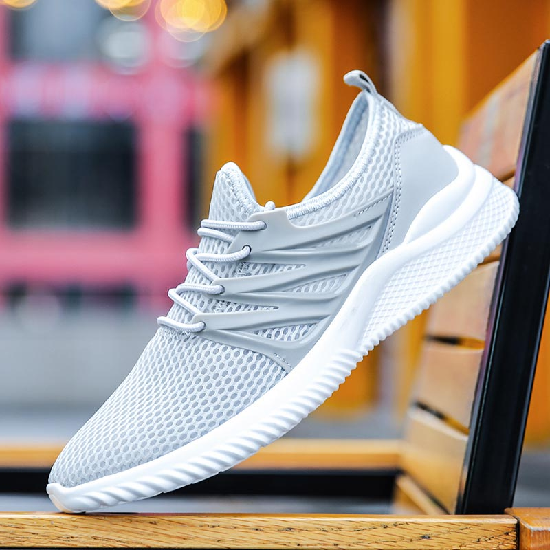 Summer Breathable Men Sneakers For Running Shoes Men's Sport Shoes Sports Gray Playeras De Hombre Footwear Gym Athletic C-276