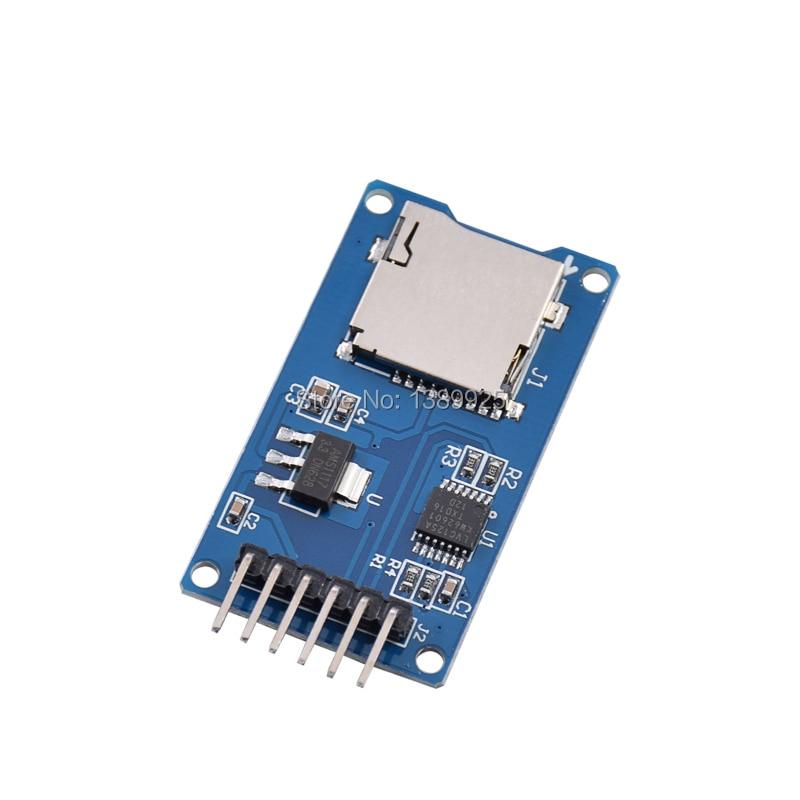 Micro SD Card Slot TF Storage Card SDHC Socket Reader Memory Shield Module SPI Micro SD Adapter MIni Storage Board Panel DIY KIT