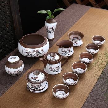 Yixing Personality Spirit Pottery Creativity Tea Set Suit Characteristic Zen Ceramics Teapot Kung Fu Tea