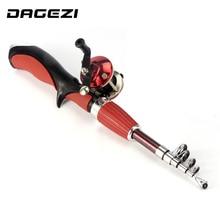 DAGEZI ice Fishing Rod + reel Spinning Fishing wheel ice Rod combo fishing tackle