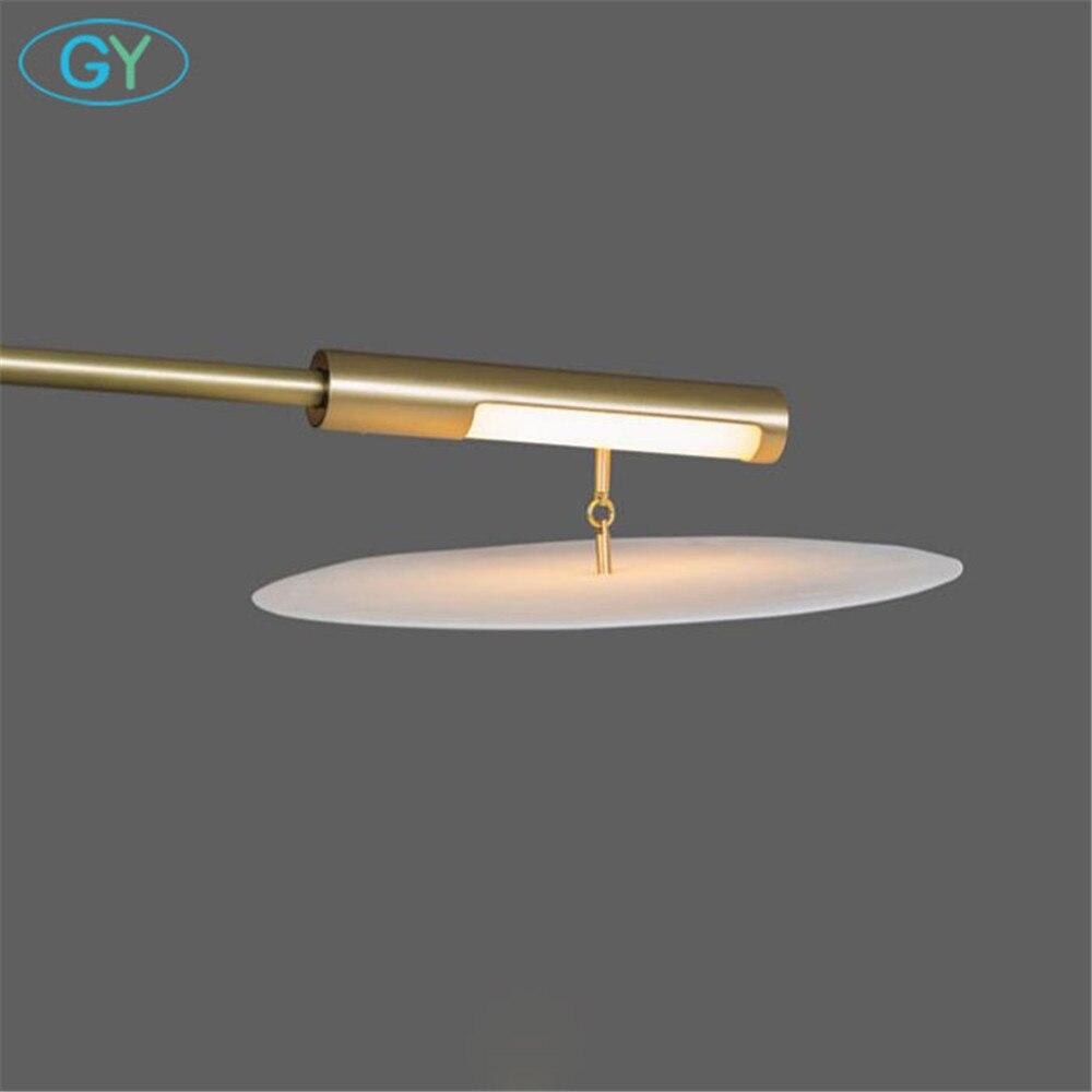 Modern Gold Pendant Chandelier Lights Lustre Acrylic Living Room Led Chandeliers Lighting 3 branch light lampadari 5-light avize