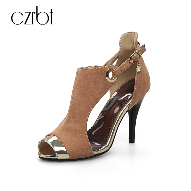 CZRBT Hot Sell Bling New Plus Big Size 33-44 Sexy Peep Toe Wedding Ladies High Heel 10cm Summer Women Party Sandals Bridal Shoes zorssar brand 2017 high quality sexy summer womens sandals peep toe high heels ladies wedding party shoes plus size 34 43
