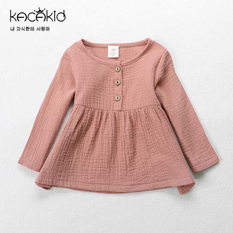 Kacakid Spring cute baby girls Tees shirt kids cotton T-shirt children long sleeve tops Sweatshirts утюг philips gc2088 30 2400вт фиолетовый белый