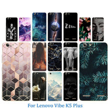 Phone Case for Lenovo Vibe K5 Plus Lemon 3 A6020 New Perfect Design Hook Pattern Clear Soft TPU Silicon Full Protect Back Cover(China)