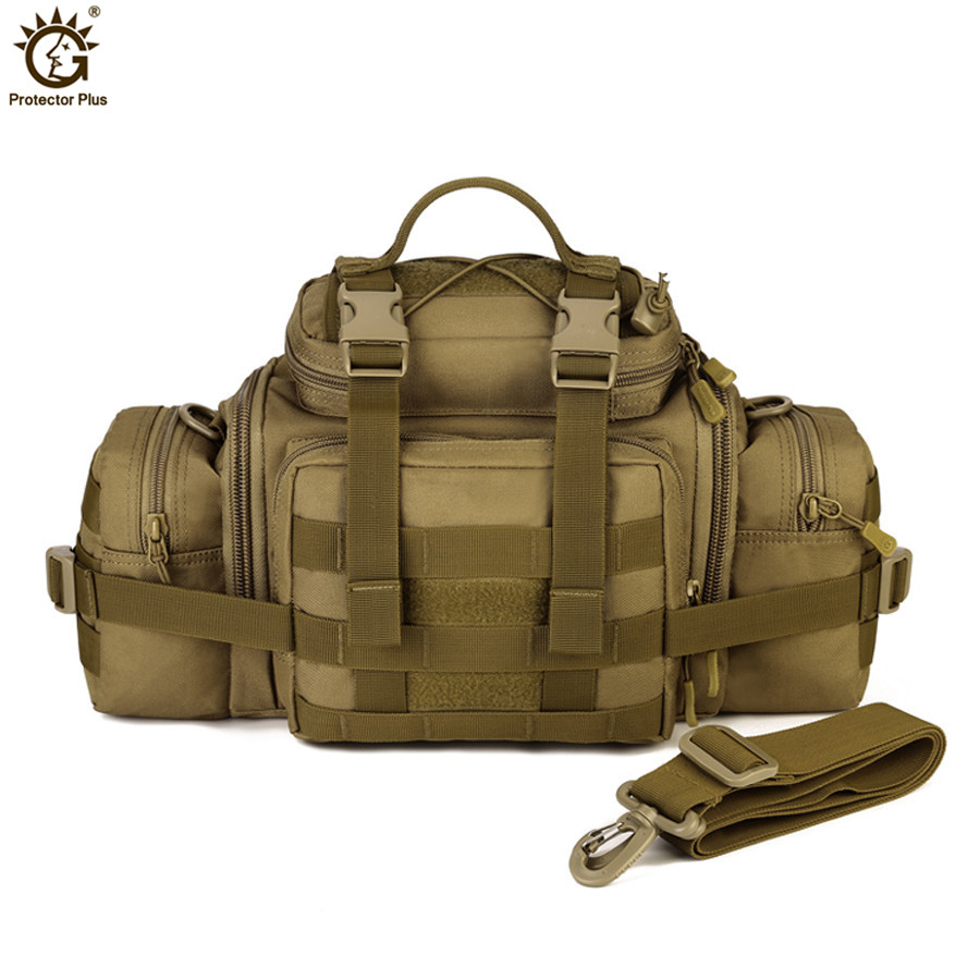 Multifunction Outdoor Large Capacity Sports Shoulder Bag  Handbag Military Black Tactical Pocket sports riding pocket