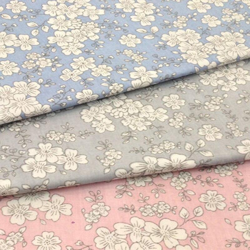 Duyên dáng 50x160 cm 3 Màu Sakura Nhật Bản hoa anh đào hoa In Hình Chất Liệu Vải 100% Cotton Vải Ren Họa Tiết Hoa Cho DIY may Chăn Ga Gối-trongVải từ Nhà & vườn trên AliExpress