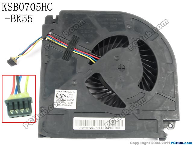 Delta Electronics KSB0705HC -BK55 Server Laptop Fan DC5V 0.60A 4-wire delta 12038 12v cooling fan afb1212ehe afb1212he afb1212hhe afb1212le afb1212she afb1212vhe afb1212me