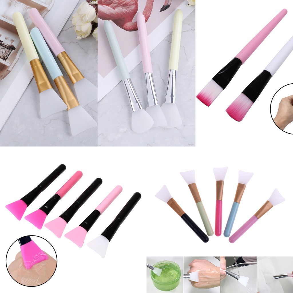 1pc Silicone Brush Makeup Brushes Mask Brush Face Mask Brush Silicone Gel DIY Cosmetic Beauty Tools Brochas Para Maquillaje