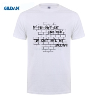 GILDAN Walls For Lunch T Shirts Men Summer Top Tees Homme Digital Printing 100 180g Combed