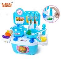 Global Drone Koken Speelgoed Mini Keuken Speelgoed voor Kinderen Fantasiespel Set Educatief Speelgoed Servies met Squishy Voedsel