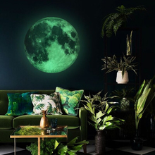 30cm Luminous Moon DIY 3D Fluorescent Wall Stickers Childrens Bedroom Mural Dark Wallpaper Accessories
