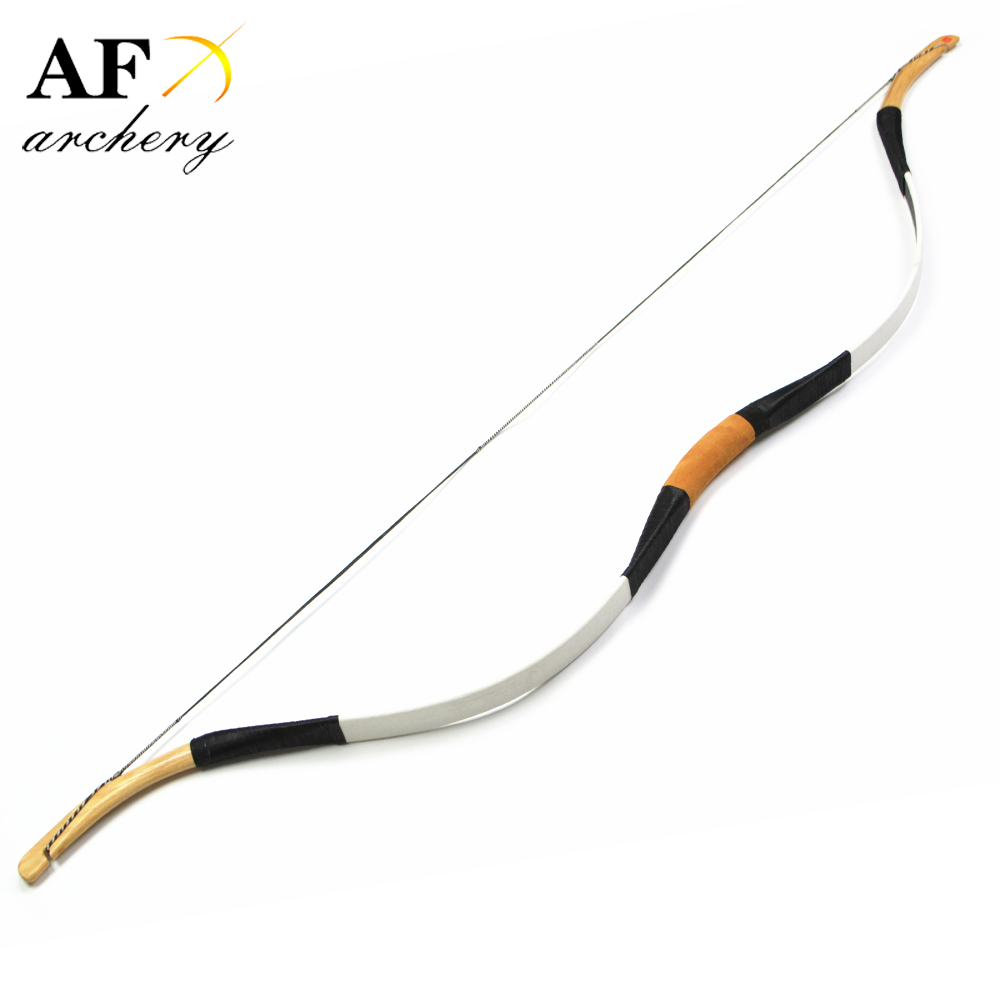 Handmade traditional 45lbs Leather Longbow Recurve Bow Hunting For Archery