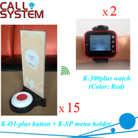 Restaurant table number calling system 2 wrist watches + 15 buzzer + 15 menu board service equipment