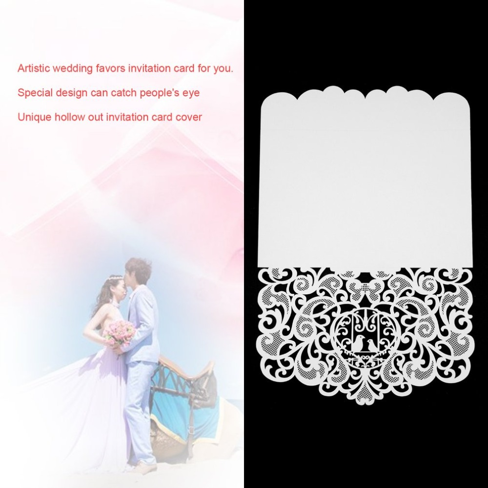 20pcs foldable invitation card cover exquisite hollow out little