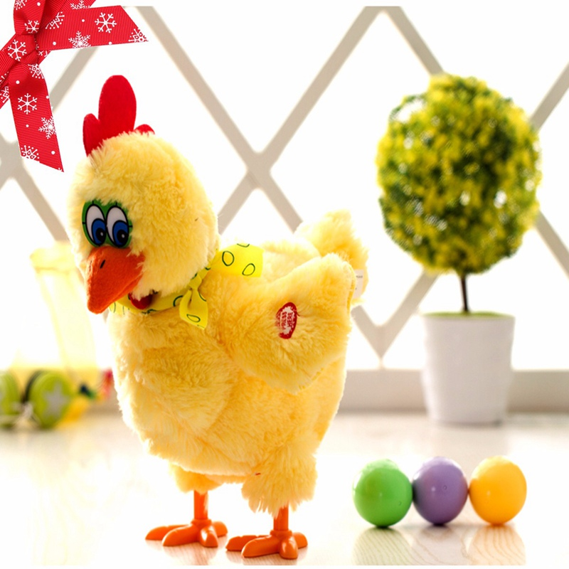 Electric Hen Musical Dancing Laying Egg Funny Educational Baby Kid Toy Chickens Crazy Singing Dancing Electric Pet Plush Toy