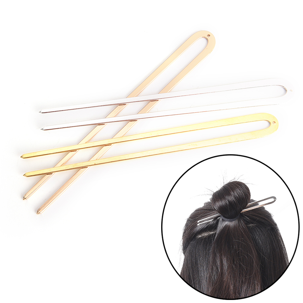 1Pcs Retro Women 14cm Long Metal Wedding Party Hair Stick Pick Fork Antique Hairpin Hair Jewelry Hair Clips