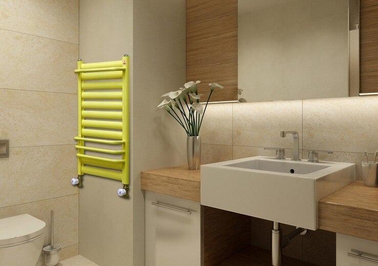 Gratis verzending muurbevestiging badkamer radiator staal kleine